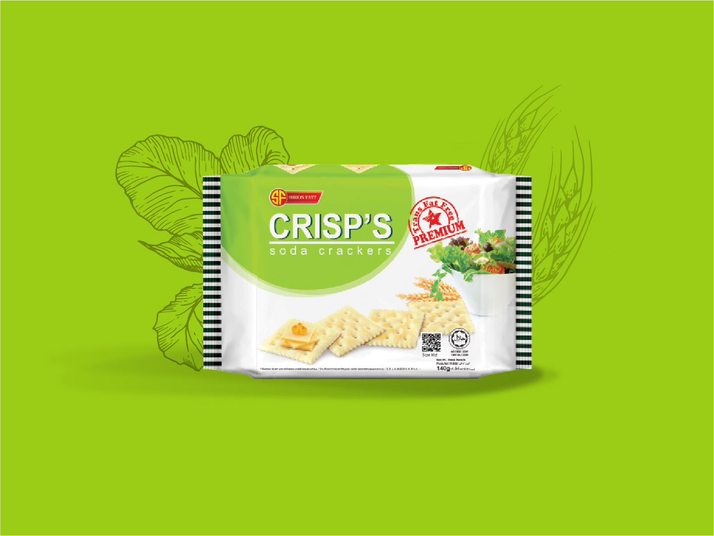 Shoon Fatt Crisp's Soda Crackers